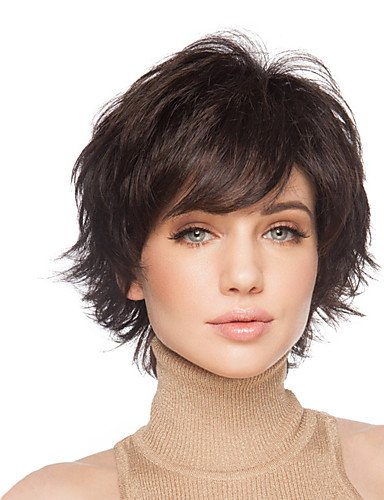 Wigs have an attractive convenience fashion Fluffy Short Wavy Hand Tied Top Human Virgin Remy Capless Woman's Hair Wig (Hand Tied Braids compare prices)