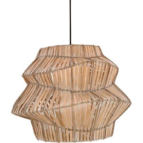 B003VS4SQA Quoizel RTG1826 Tobago 1 Light Split Bamboo Pendant, Handmade Paper Inner Shade