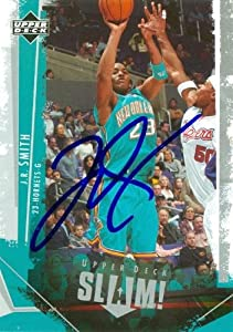 J.R. Smith Autographed Hand Signed Basketball Card (New Orleans Hornets) 2005 Upper...