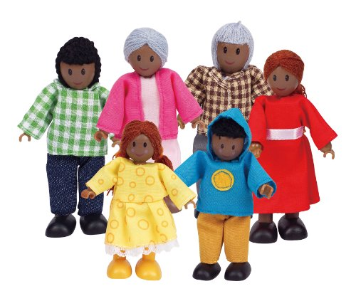 Hape-Happy-Family-African-American-Doll-House-Set