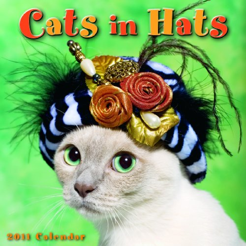 Cats in Hats 2011 Mini Wall Calendar (Calendar)