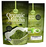 Organic Matcha Green Tea Powder Antioxidants FAT Blocker Energy Booster Incredible Taste Perfect Gift Usda Organic Koshie GMP Certified (4oz)