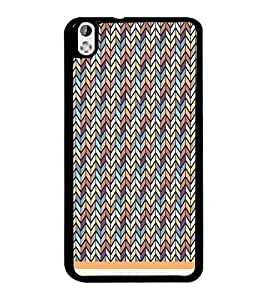 PrintDhaba Pattern D-1230 Back Case Cover for HTC DESIRE 816 (Multi-Coloured)