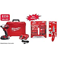 Milwaukee M18 18V 2656-21 Impact Driver Combo Kit + 2 Free Gifts
