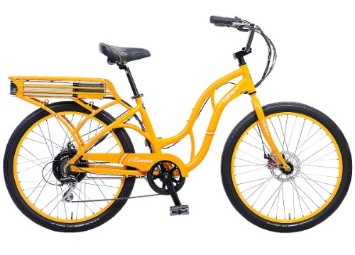 IZIP E3 Zuma - Low Step Beach Cruiser Electric Bicycle - Orange