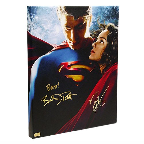 Brandon Routh And Kate Bosworth Autographed 16X20 Superman Returns Imax Canvas