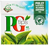 PG Tips 40 Pyramid Teabags 125 g (Pack of 12)