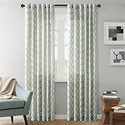 Ink+Ivy Nakita Window Curtain - Aqua - 95\
