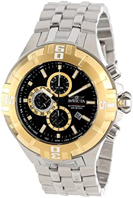 Invicta Men's 12358 Pro Diver Chronograph Black Dial Stainless Steel Watch