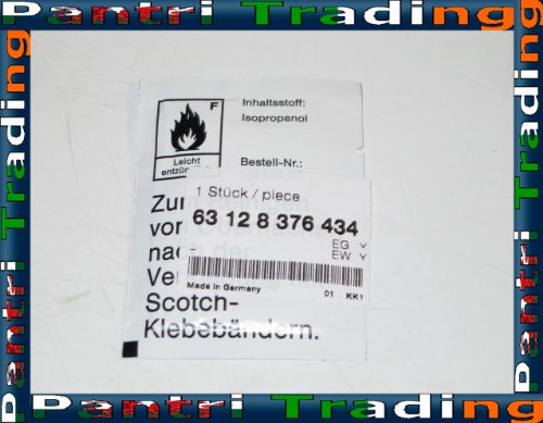 BMW Head Light Lens Solvent Cleaning Rag Cloth 8376434