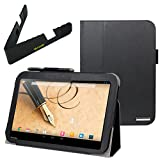 BIRUGEAR Portable Fold-able Stand and Faux Leather Folio Stand Case for Toshiba Excite Pro - 10.1'' Tablet (AT15LE-A32 / AT10LE-A-108)