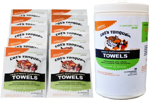 cats-tonguetm-heavy-duty-cleaning-degreaser-wipes-degreasing-towels-30-10-bundle-30-count-10-pack