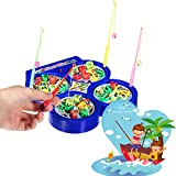 BonZeal High Quality Electric Rotating Magnetic Fishing Kid Children Educational Toy Game (Blue)