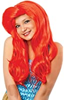 Costume Culture Mermaid Wig, Neon Red, One Size
