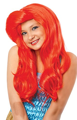 Costume Culture Mermaid Wig, Neon Red, One Size (Red Mermaid Wig compare prices)