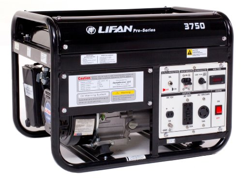 Lifan Pro Series Lf3750 Contractor/Commercial Grade 3750 Watt 6.5 Hp 196Cc 4-Stroke Ohv Gas Powered Portable Generator, Osha Compliant