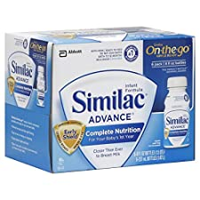 Similac Advance On-The-Go Infant Formula, with Iron, Ready to Feed, 6 - 8 fl oz (237 ml) bottles 1.5 qt (1.42 lt)