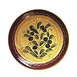 スペイン製 CORDOBA コルドバ陶器/プレート 25.5cm  スペイン陶器/オリーブ柄・パスタ皿・絵皿