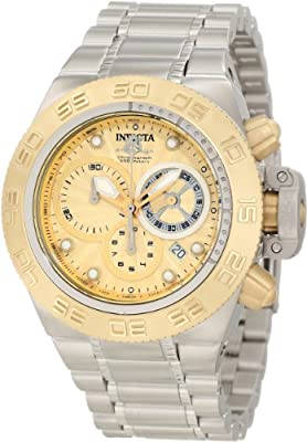 Invicta Men's 10146 Subaqua Noma IV Chronograph Gold Tone Textured Dial Watch