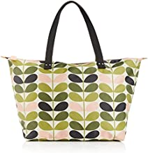 Orla Kiely Tonal Stem Printed Zip Shopper, Sacs portés main Femme - Multicolore (storm), Taille Unique