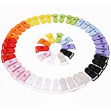 50pcs KAM Pince à sucette bretelle attache clip plastique 10 couleurs