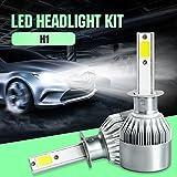 110W 9200LM 6000K Xenon Headlight Auto Headlamp H1 H4 H7 H11 H13 880 9004 9005 9006 9007 LED Car Conversion Kit Headlight Bulb Hi-Lo Beam 9v 36v White (H1)