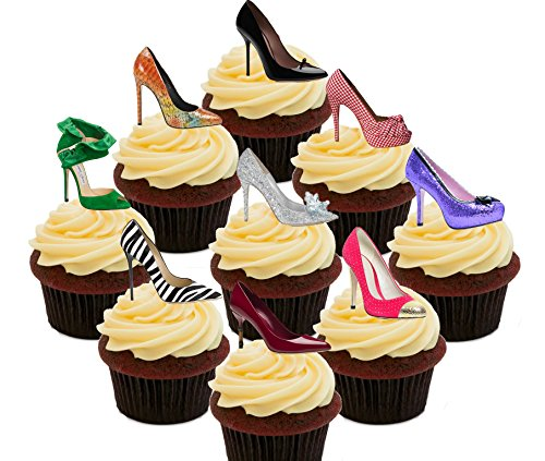 i-love-shoes-party-pack-edible-cupcake-toppers-stand-up-wafer-cake-decorations-pack-of-36