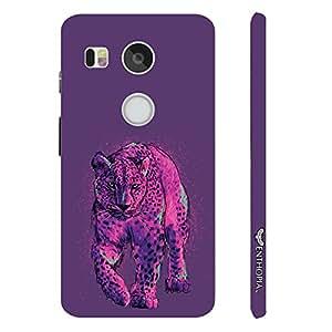 Google Nexus 5X Pink Cheetah designer mobile hard shell case by Enthopia