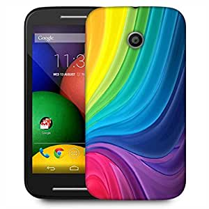 Snoogg Abstract Rainbow Flow Designer Protective Phone Back Case Cover For Motorola E / Moto E