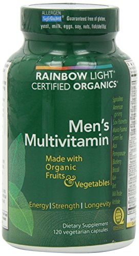 Rainbow Light, Men'S Organic Multivitamin, 120 Count (Pack Of 2)