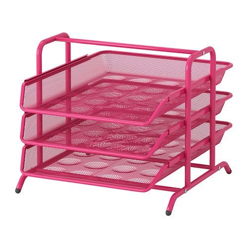 Ikea Steel Letter Tray, Pink (Dokument Letter Tray compare prices)