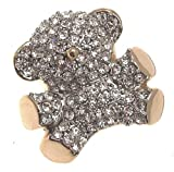 Diamante teddy bear brooch