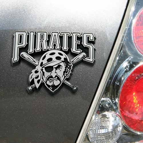 MLB Pittsburgh Pirates Chrome Automobile Emblem