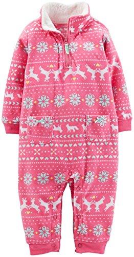 Carter's Fleece Romper (Baby) - Pink-18 Months