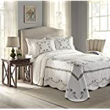 Modern Heirloom Collection Heather Cotton Filled Bedspread, Queen, 102 by 118-Inch