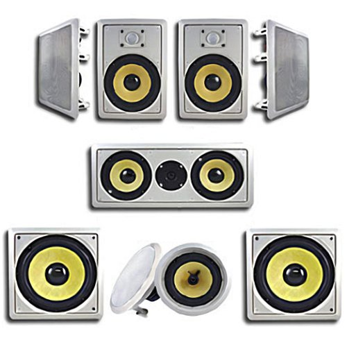 New Acoustic Audio Hd728 7.1 In Wall Home Theater Surround Sound Speaker System