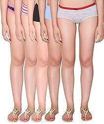 Vivity Multi Cotton Assorted Panties Pack of 5