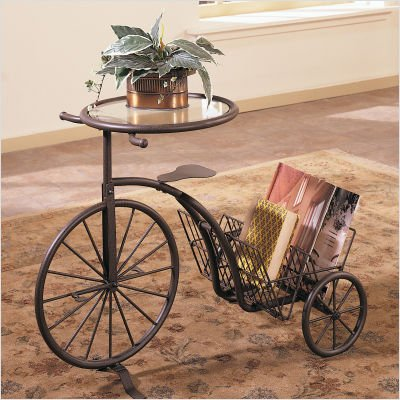 Powell Rustic Finish Tricycle Table