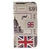 【優品雑貨店】Apple iPod touch 5 / touch 6 兼用 手帳型デザインケース ( iPod touch5/6 アイポッドタッチ 第5世代?第6世代 5th 6th 対応 ) 画面保護 / スタンド / ICカード収納 PU leather Wallet Case (PUレザー&TPUソフト)【LONDON (ロンドン)】