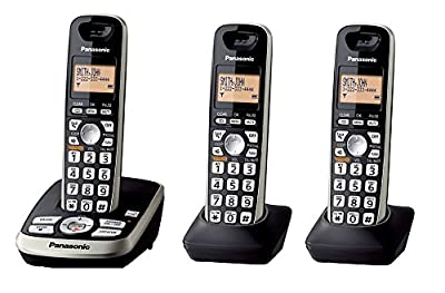 Panasonic KX-TG4223B Expandable Digital Cordless Answering System with 3 Handsets (Certified Refurbished) (KX-TG4223N BLACK)