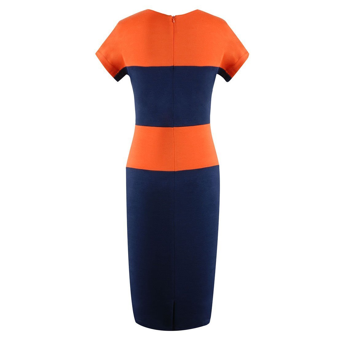 AZURE(TM) Women's Block Striped Bodycon Pencil Dress