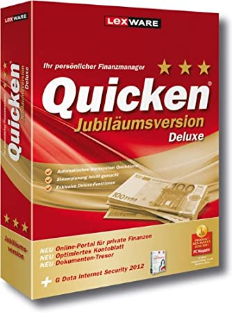 Quicken Deluxe 2012 Jubiläumsversion (Version 20.00)
