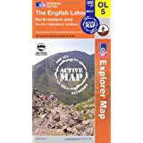 The English Lakes - North Eastern Area (OS Explorer Map Active): Penrith, Patterdale & Caldbeckby Ordnance Survey