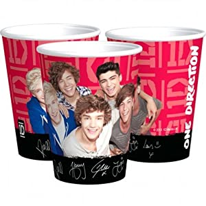 One Direction 1D 8 PK Party Accessories Brands Cups Paper by .