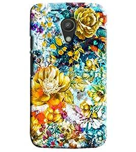 Blue Throat Floral Pattern Printed Designer Back Cover/Case For Motorola Moto G2