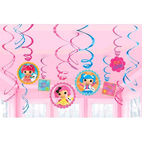 Amscan Adorable Lalaloopsy Swirl Value Pack (12 Piece), Pink/Blue
