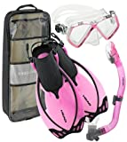 Head by Mares Junior Mask Fin Snorkel Set, with Snorkeling Backpack, PK-LG