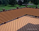 Free Shipping - Deluxe Brown/khaki Striped Privacy Screen Net for Deck, Balcony, Fence, Swimming Pool or Patio. 35