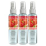 3x Avon Naturals Strawberry & Guava Fragrance Spritz Body & Home 100ml