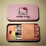 UDTEE New/Fashion/Cute Hello Kitty 7 Makeup Foundation Powder Eyeshadow Brushes Set